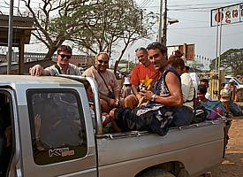 En pick-up en direction de Siem Reap