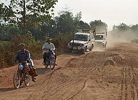 Sur le «Highway 5» à travers le Cambodge