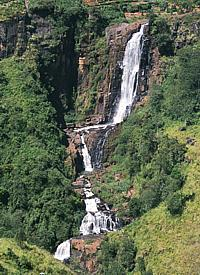 "The ""Devon Falls"" in the central highlands of Ceylon"