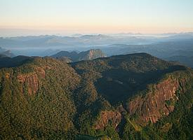 A view over the central highlands of Ceylon