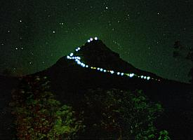 "The ""Holy Mountain"" during the night"